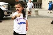 "Oklahoma City's ""Lil Stache Bro"" Is Steven Adams' Pint Sized Look-A-Like"