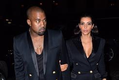 Kanye West & Kim Kardashian Model For Balmain