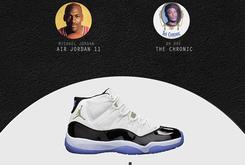 Air Jordan Signature Sneakers x Classic 90s Rap Albums