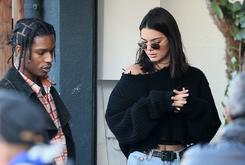A$AP Rocky And Kendall Jenner Sightsee Paris