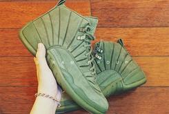 New PSNY x Air Jordan 12 Collab Revealed In Olive Green