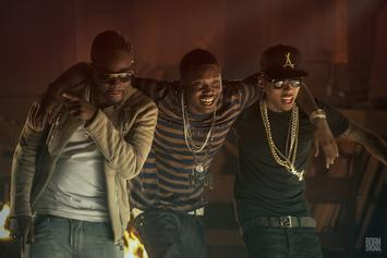 """BTS Photos: Video Shoot For Kid Ink's """"Bad Ass"""" With Meek Mill & Wale"""