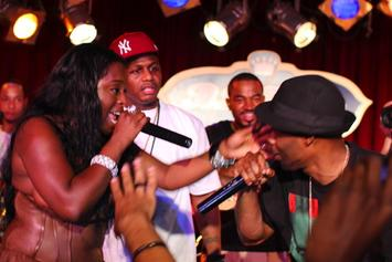"Foxy Brown ""Debuts New Song In NYC, Falls Off Stage"" Video"