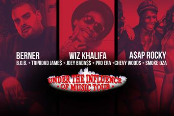 """Episode 3 Of Our Exclusive """"Under The Influence"""" BTS With Berner, A$AP Rocky, Wiz Khalifa, Joey Bada$$ & More"""