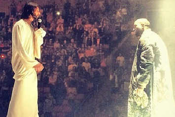 "Kanye West Brings Out Jesus During Seattle ""Yeezus"" Performance"