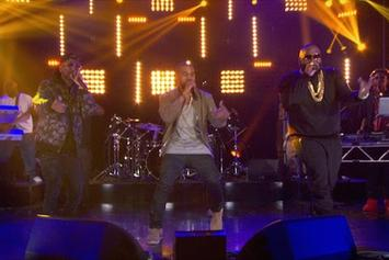 "Rick Ross, Kanye West & Big Sean Perform ""Sanctified"" On Arsenio Hall"