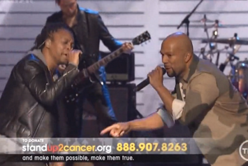 """Lupe Fiasco, Jennifer Hudson & Common Perform """"Remission"""" At """"Stand Up 2 Cancer"""" Concert"""