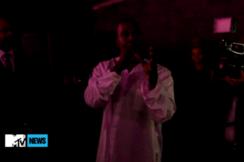 Kanye Gives Passionate Speech At Teyana Taylor Listening Party