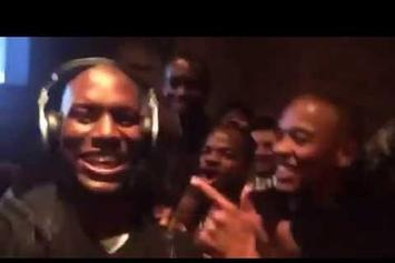 Dr. Dre Celebrates Apple Buying Beats By  Dre In Studio With Tyrese
