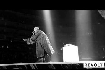 Kanye West Talks To Crowd At Staples Center About His Recent Interviews