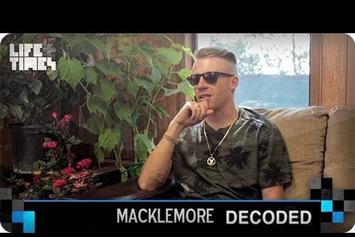 "Macklemore ""Decodes ""Neon Cathedral"""" Video"