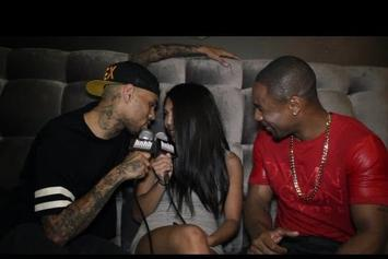 """Chris Brown Feat. Tank """"Chris Brown Interviews Tank and Gets Frisky with HotNewHipHop Host ('Shots Fired' Behind-The-Scenes) """" Video"""