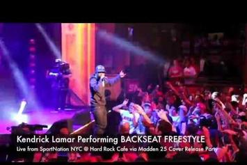 "Kendrick Lamar ""Performs ""Backseat Freestyle"" Live"" Video"