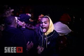 """Chris Brown """"Performs New Song At Diddy's Party"""" Video"""