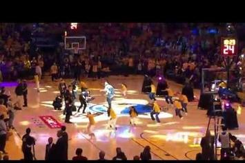 E-40 Performs At NBA Finals Halftime Show