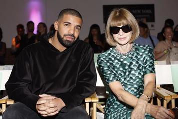 Drake Sits Front Row At Serena Williams' Fashion Show