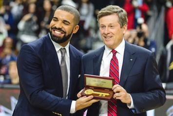 Here's Drake Receiving Toronto's Key To The City