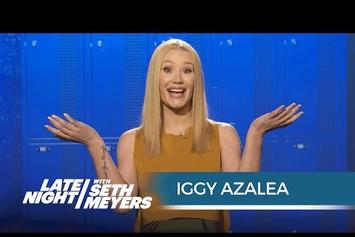 "Iggy Azalea Explains Teen Slang For Seth Meyers, Performs ""Team"""