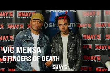 """Vic Mensa's """"5 Fingers Of Death"""" Freestyle On Sway In The Morning"""