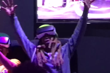 Watch Lil Wayne Lose His Shit On A Virtual Reality Roller Coaster Ride