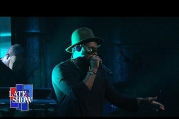 """ScHoolboy Q Performs """"THat Part"""" On Stephen Colbert"""
