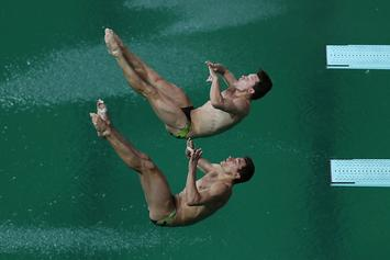 The Olympic Diving Pool Has Closed Because The Water Is Green And Smells Like Farts