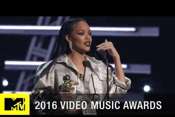 Rihanna Delivers VMA Vanguard Speech; Drake Introduces The Award