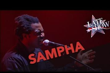 "Sampha Performs ""Blood On Me"" On Colbert"