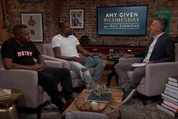 "Nas And Kevin Durant Sit Down With Bill Simmons On ""Any Given Wednesday"""