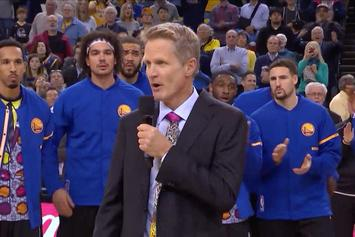 "Steve Kerr Holds ""Moment Of Joy"" In Honor Of Craig Sager"