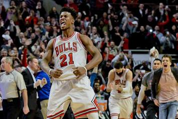 Watch Jimmy Butler Hit Step Back Buzzer Beater At Home Against Brooklyn Nets