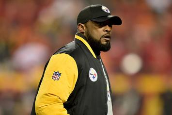 """Antonio Brown Videotapes Mike Tomlin Calling Patriots """"A**holes"""" On Facebook Live"""
