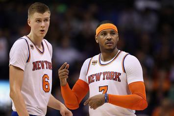 """Phil Jackson Reportedly """"Determined"""" To Trade Carmelo Anthony This Season"""