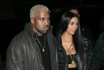 Kanye West & Kim Kardashian Stormed By Paparazzi On Valentine's Day Date