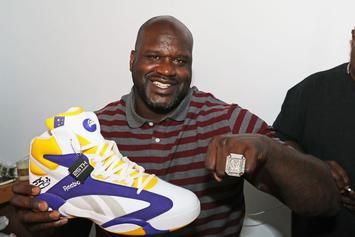 "Shaq And Reebok Launch Special Edition ""LSU"" Shaq Attaq For All-Star Weekend"