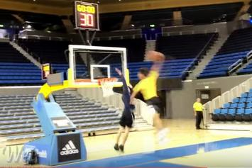 Lonzo Ball Posterizes Fellow UCLA Student In Dunk Competition