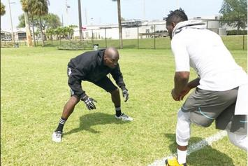 Watch Chad Johnson Attempt To Cover Antonio Brown On The Football Field
