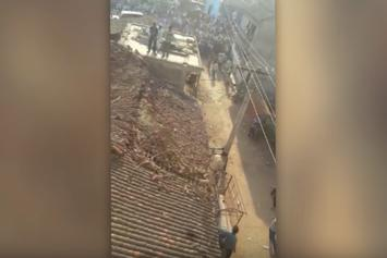 Indian Man Jumps Off Roof To Escape Leopard