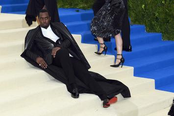The Best Memes Of Diddy Lounging On The Met Gala Stairs
