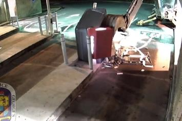 You Mad? Guy Steals Backhoe To Break Into ATM And Gets No Money!!