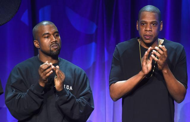 Jay Z and Kanye West at TIDAL launch in 2015