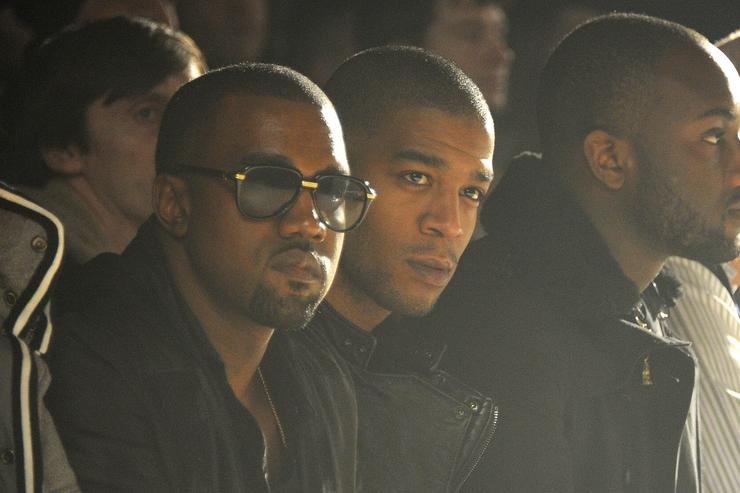 kid cudi and kanye west at fashion week 2011