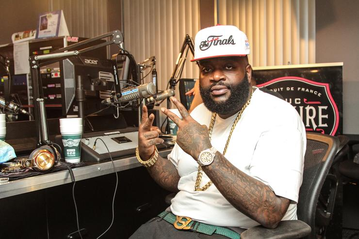 Rick Ross Appears At 99Jamz Radio Station