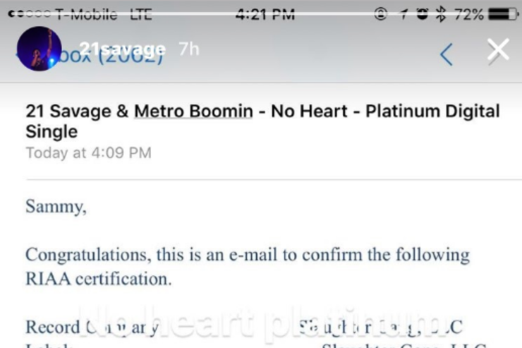 Screenshot of an email reportedly sent to a Slaughter Gang representative.